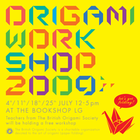 origami workshop 2009 � japancentre blog