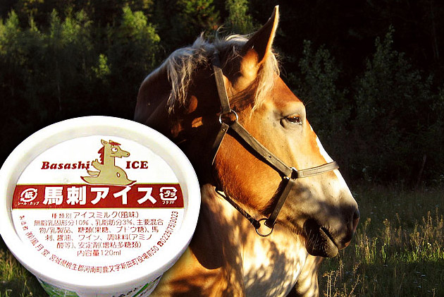 Basashi Raw Horse Meat Sashimi Flavoured Ice Cream