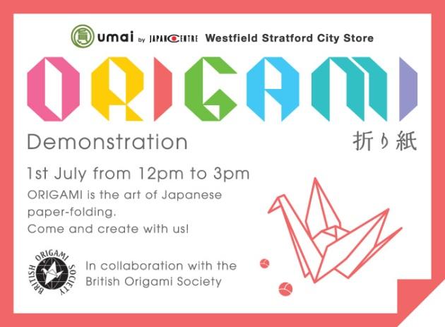 Origami Demonstration Westfield