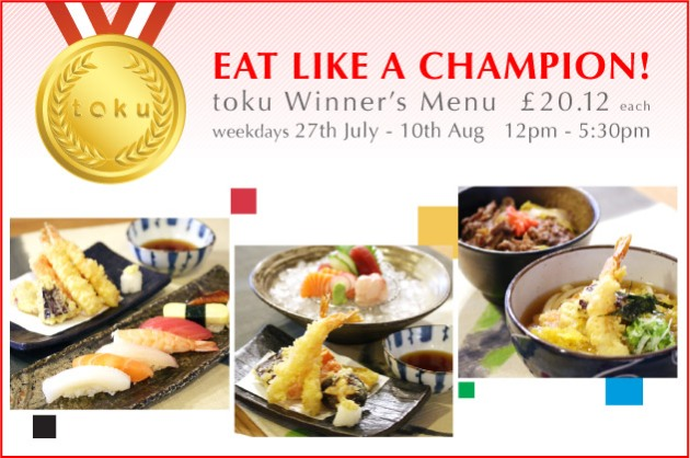 toku olympic menu