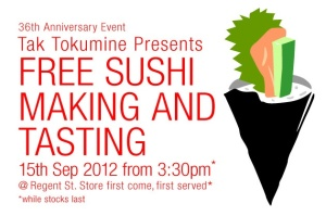 free sushi making japan centre