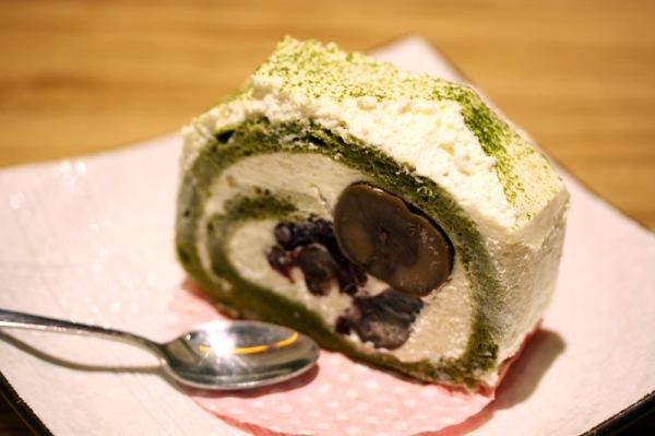 Azuki & Matcha Roll Cake