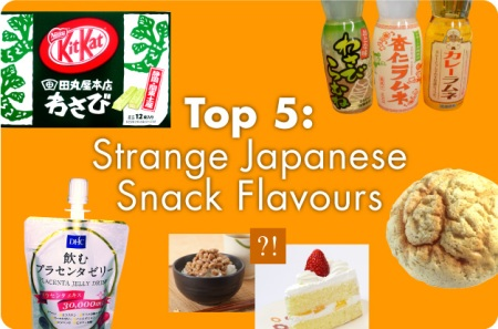Top 5: Strange Japanese Snack Flavours