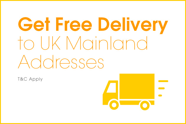 Get Free Delivery to UK Mainland Addresses!