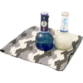 Furoshiki Wrapped Sophisticated Sake Set