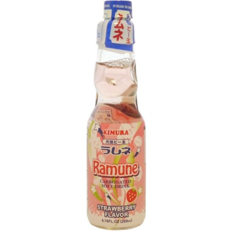 Kimura Drink Strawberry Ramune