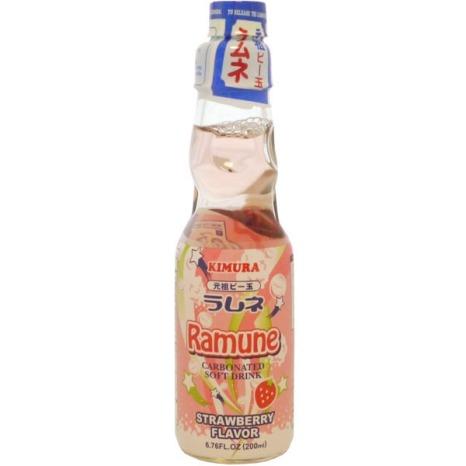 Kimura Drink Strawberry Ramune