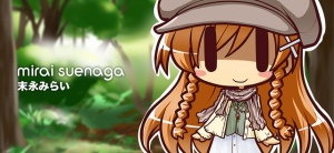 Mirai Suenaga as a mori girl
