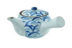 Blue & White Patterned Teapot