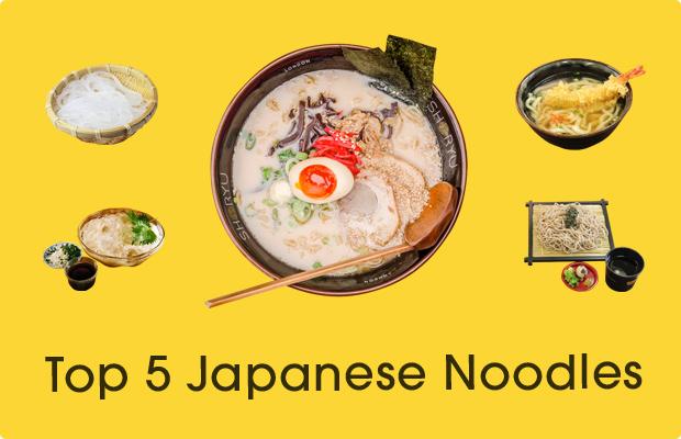 Top 5 Japanese Noodles