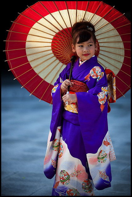 Shichi go san, parasol