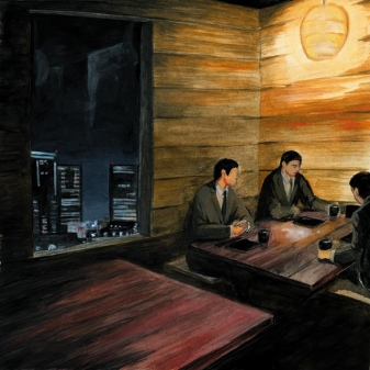 Izakaya painting - Tomoko FURUYA - flickr