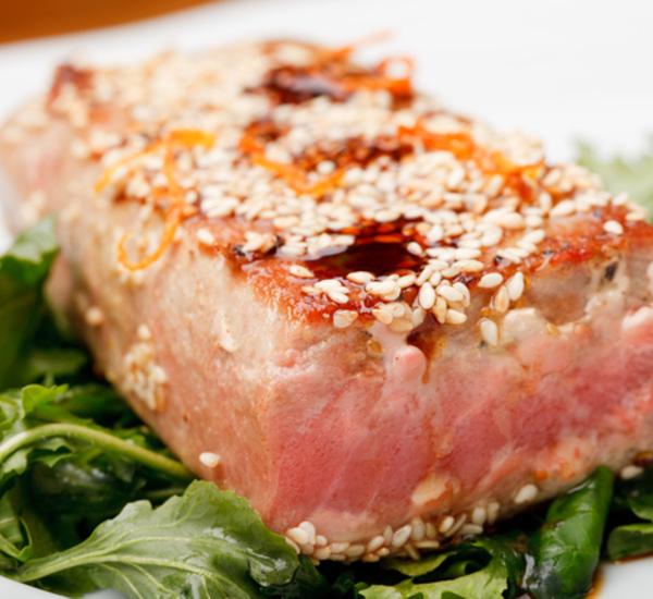 Fried tuna steak