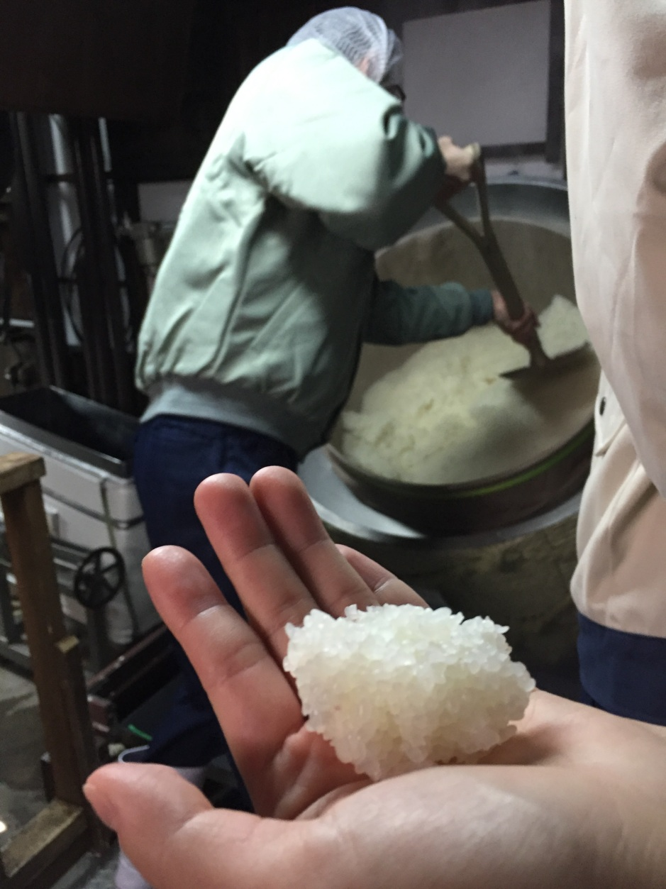 freshly steamed rice