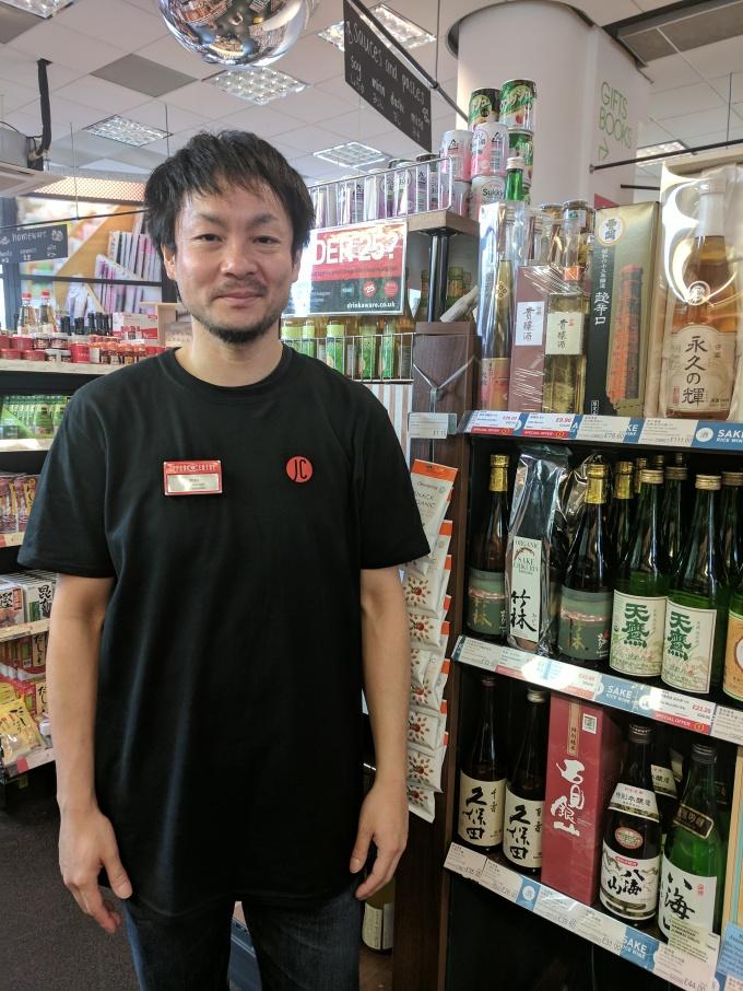 Japan Centre sake sommelier Naoyuki Torisawa