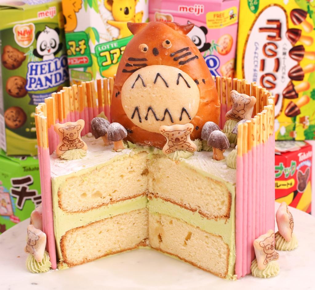 Kim Joy Matcha Buttercream Pocky Cake
